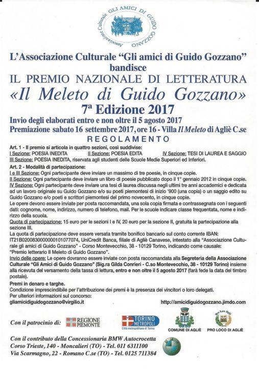 Premio il Meleto di Guido Gozzano